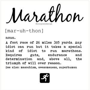 Funny greeting etsy marathon card marathon definition funny greetings card for marathon runner m4hsunfo