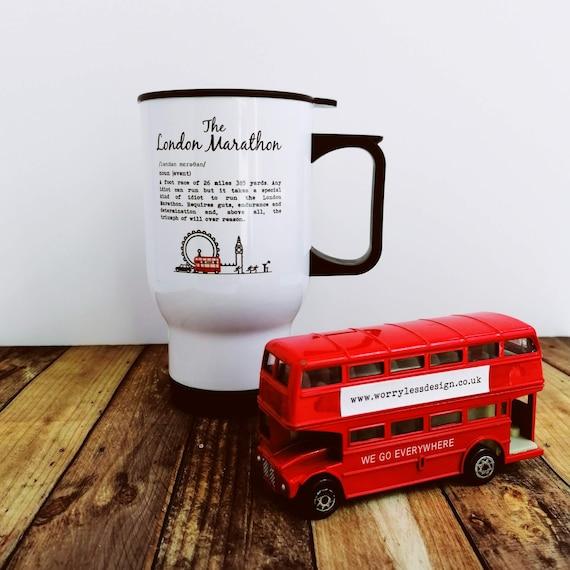 Marathon Gift. Travel Mug - London Marathon Definition. Runner Gift, Gift for Runner, Gift for Marathon. Marathon Gifts, Runner gifts.