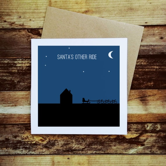 Cycling Christmas Card - Santa's Other Ride - Christmas Card for a Cyclist