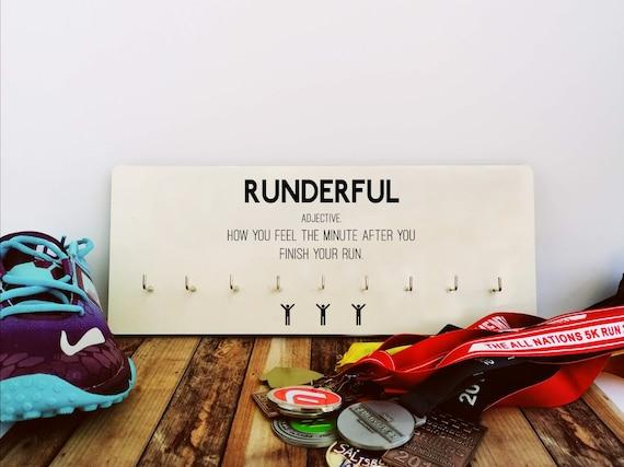 PRICE REDUCED. Runderful - Medal Hanger, Running Gift, Funny Running Gift, Gift for Runner, Runner Medal Hanger