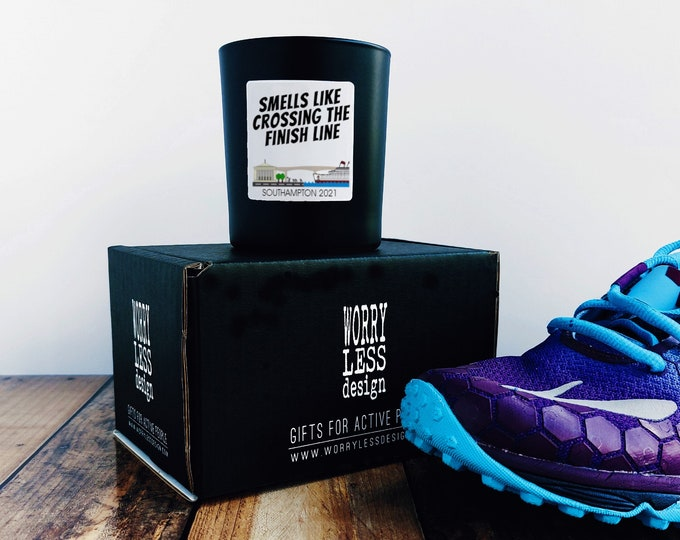 Southampton 2021 or New Forest 2021 - Scented Candle - Smells like Crossing the Finish Line