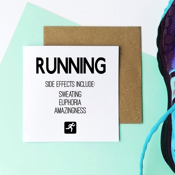 Running Side Effects - Running Card, Runner Card, Card for Runner, Marathon Card, Half Marathon Card, Funny Running Card, Sporty Card