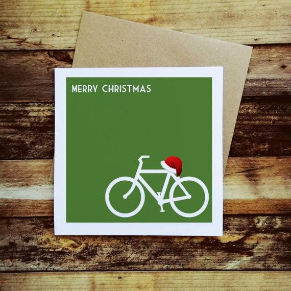Cycling Christmas Card - Festive Bike - Christmas Card for a Cyclist