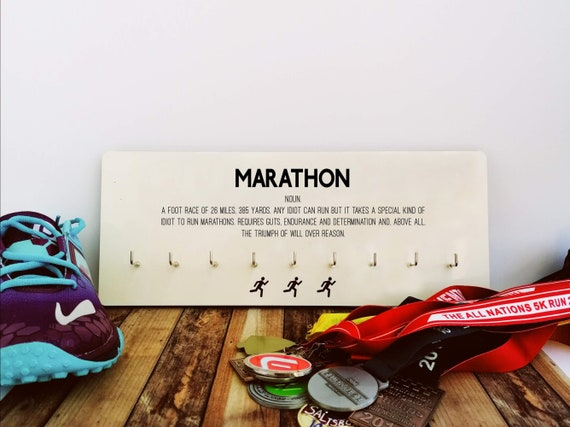 PRICE REDUCED. Marathon - Medal Hanger. Runner's Medal Display. Runner Gift, Running Gift, Running Gifts, Marathon Gift