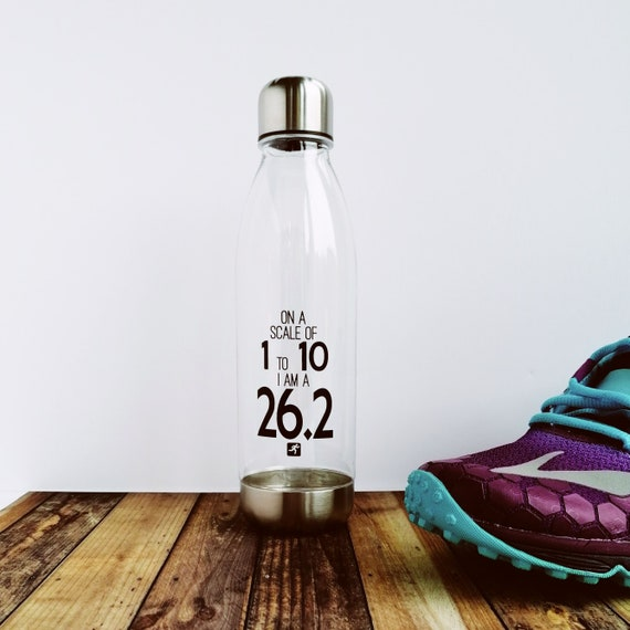 On a Scale of 1 to 10 - Water Bottle. Marathon Bottle. Marathon Gift, Gifts for Marathon Runner, London 2020, Marathon Runner Bottle