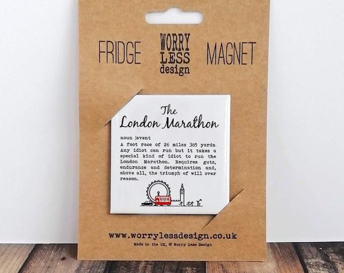 Fridge Magnet - London Marathon Definition - Gifts for Marathon Runners