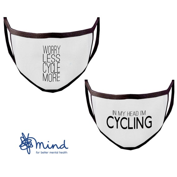 Washable Face Mask, Reusable Face Masks - Cycling Quotes - Runner Face Mask, Running Face Mask, Face Mask Adult, Protective Mask