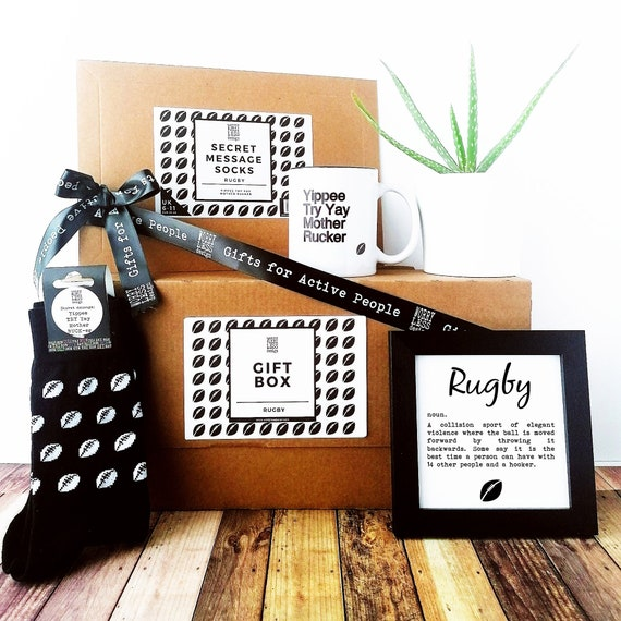 Rugby Gifts - Rugby Gift Set - Gift Box for Him, Gift Box for Men, Rugby Player Gift