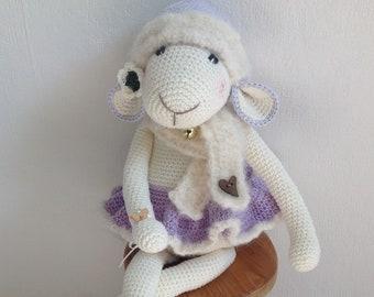 Stuffed crochet lamb/ crochet animal/  amigurumi/ stuffed animal/crochet mouse