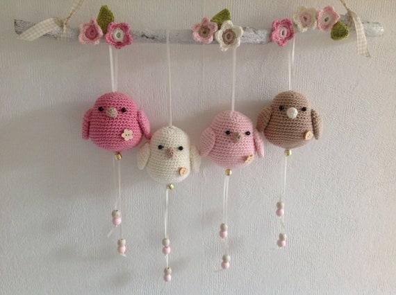 Häkeln Baby Mobile Häkeln Tiere Kinderzimmer Dusche Etsy