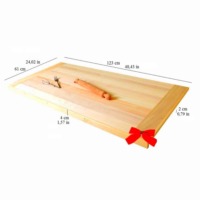 Traditional Wooden Pastry Board With Support Stip Size Large 123 X 61 Cm4843x 2402 In Gnus Furniture Etsyitaliateam Gnus Furniture
