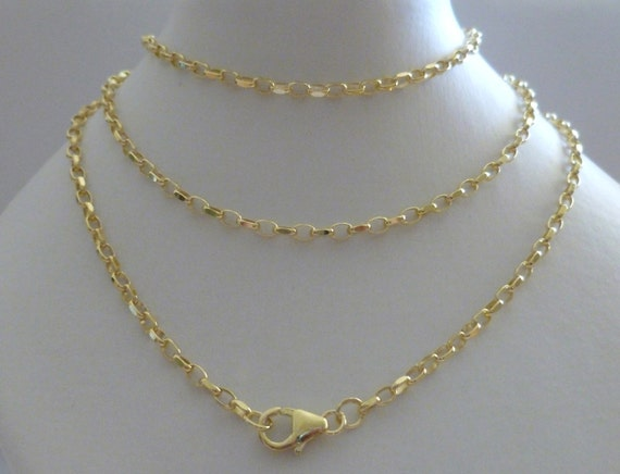 """9CT GOLD BELCHER CHAIN 16/"""" 18/"""" 20/"""" 22/"""" 24/"""" 1.7MM DIAMOND CUT SOLID LINK BOXED"""