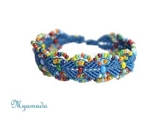 Colorful  micro macrame bracelet Myamada