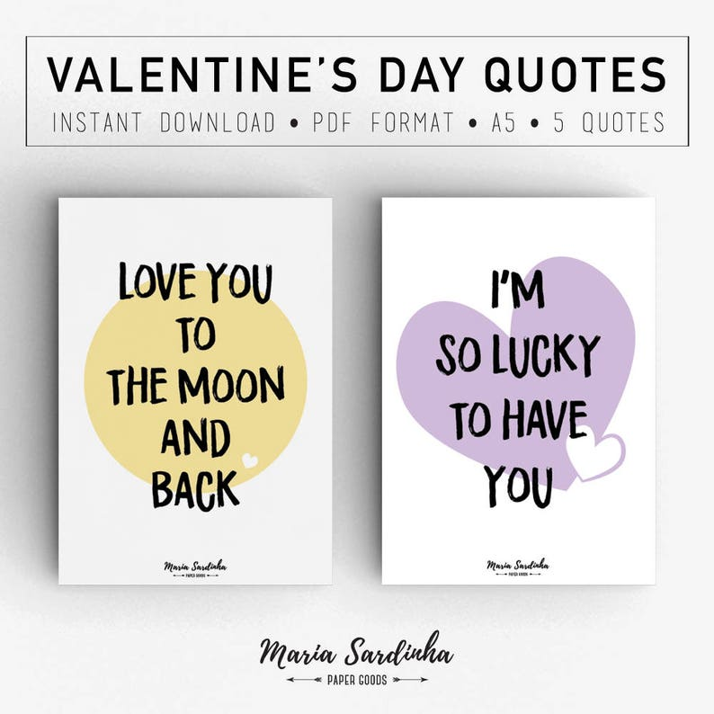 photo regarding Printable Quotes Pdf known as Valentines Working day Quotations, Drive Estimates A5, Printable Rates, PDF, Fast obtain