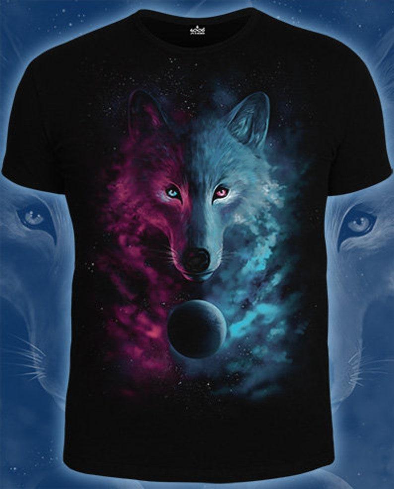 1d2db5bdd8e2 Werewolf heart t-shirt Predator wolf full moon bright print