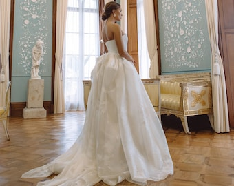 Corset wedding dress, Cindarella wedding dress, Princess wedding dress, organza wedding dress, organza traditional silk wedding dress \ 0163