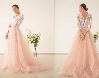 a2afb76b7b1 Pink wedding dress