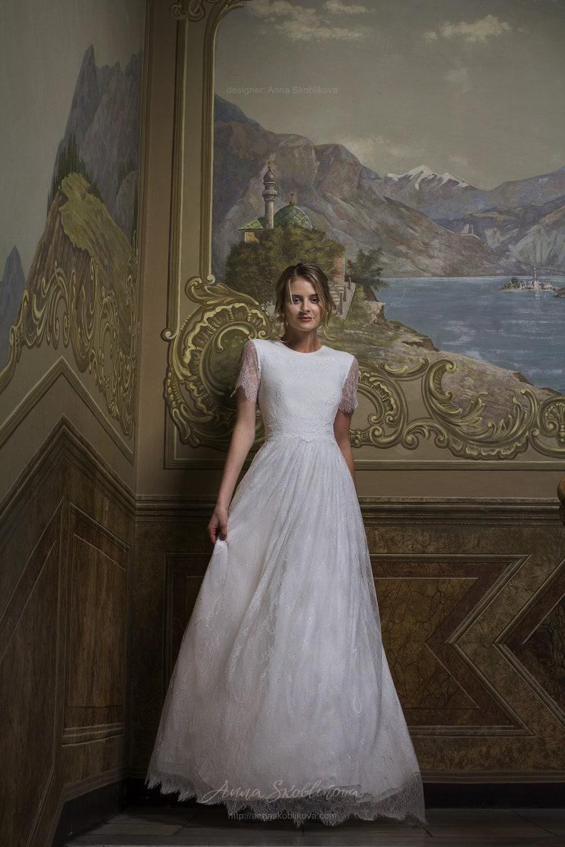 94c8b3f49ad2 Affordable wedding dress Simple wedding dress Cheap Boho