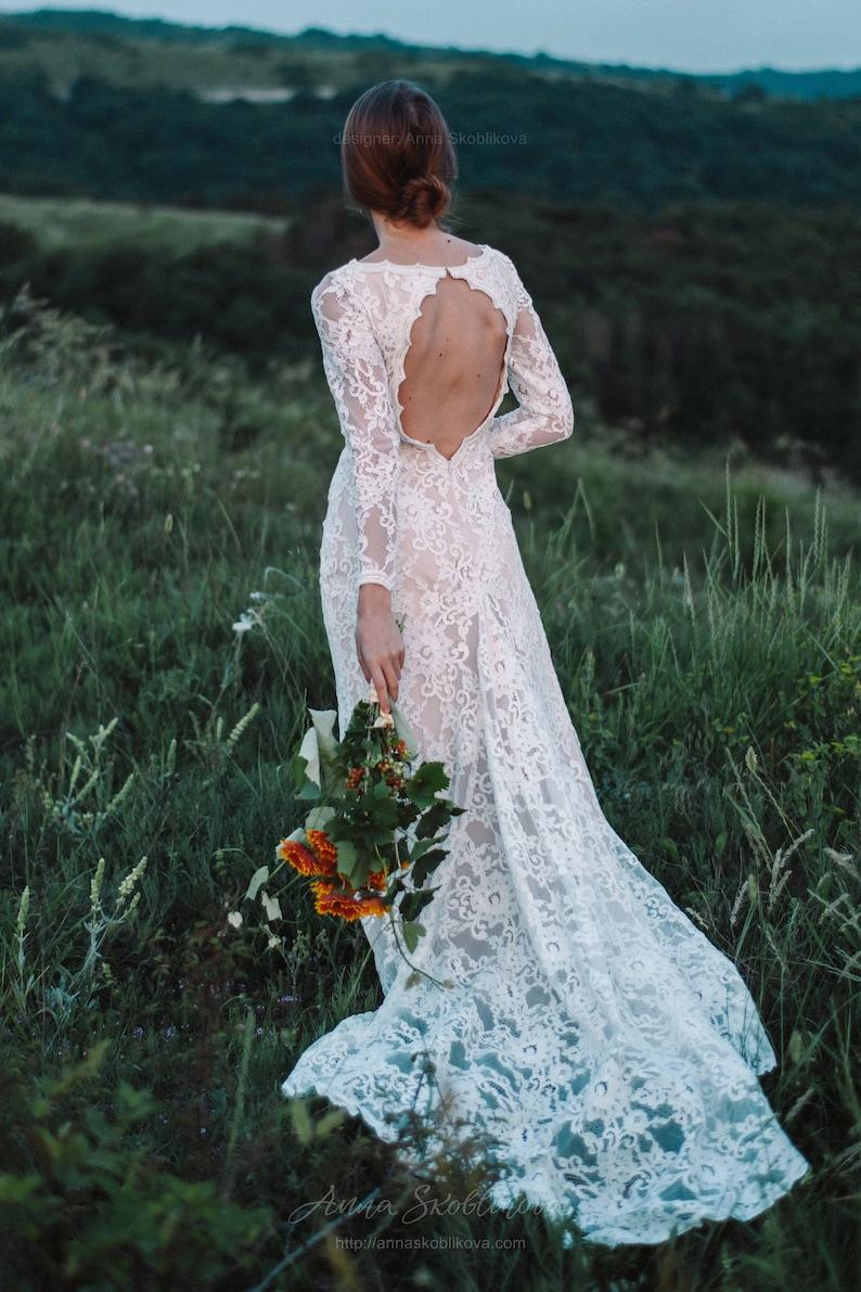 Bohemian wedding dress Boho wedding dress Sexy wedding image 1