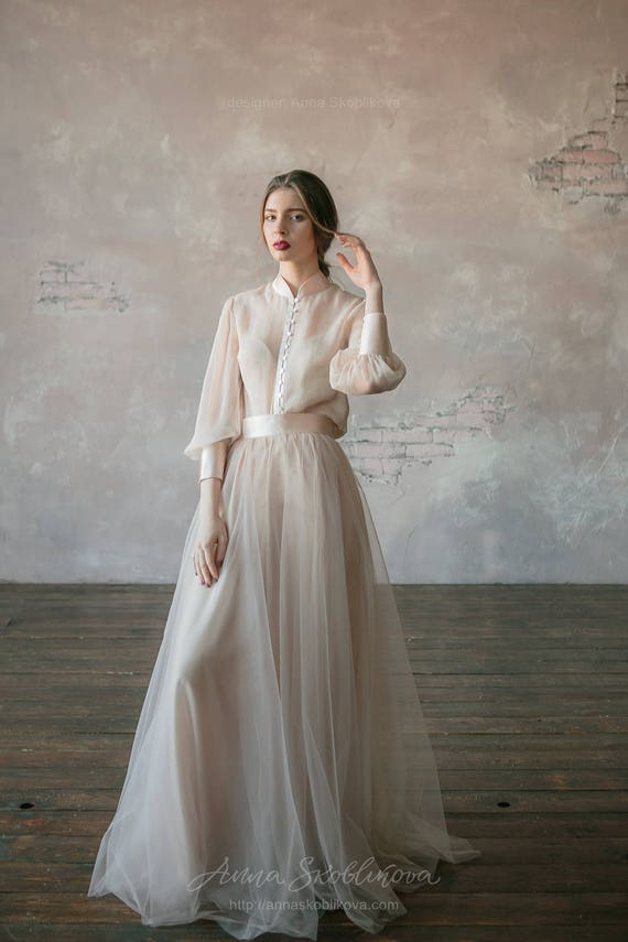 Custom Wedding Dress Vintage Wedding Dress Winter Wedding Etsy