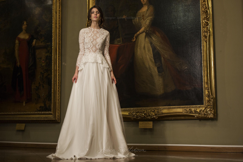 Winter Wedding Dress Vintage Wedding Dress Two Piece