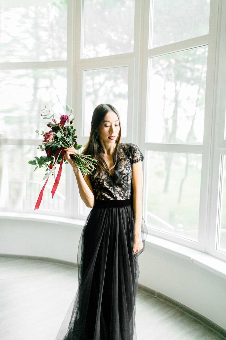 235a6a9346731 FINAL SALE - One Size Only - Sample Sale, Sale wedding dress, Black wedding  dress, Gothic wedding dress, Custom wedding dress, Lace black