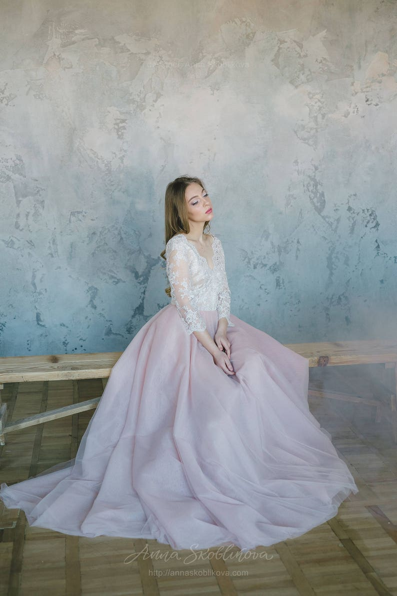 785d7f7d62 Tulle Wedding Dress Blushing In Pink