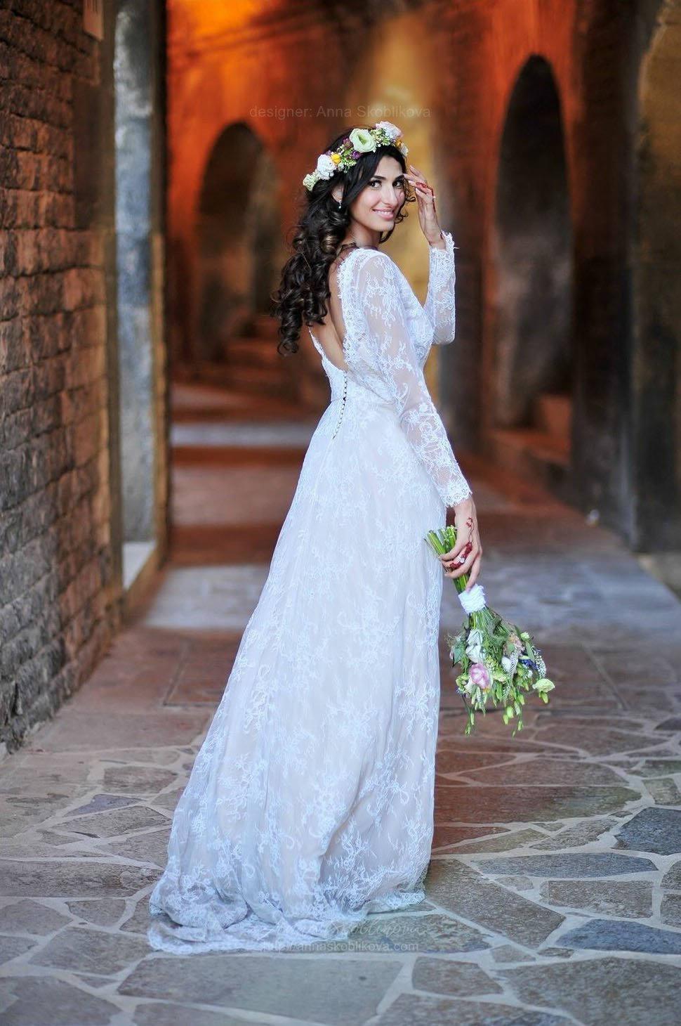 Long sleeve wedding dress Winter wedding dress Long sleeve