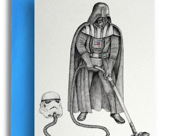Darth Vader Hoovering Card
