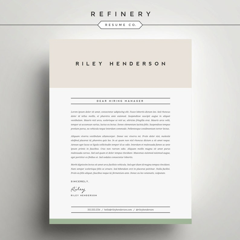 Professional Resume Template And Cover Letter For