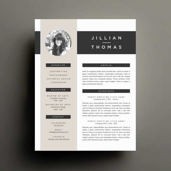 Lettre De Motivation Template: Creative Resume Template And Cover Letter Template For Word