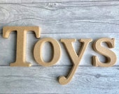 MDF blank letters - toy box letters - bevelled edged letters