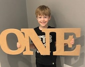 Cake smash props, Giant number one, cake smash numbers, photography props, MDF letters, giant MDF numbers, freestanding words and letters