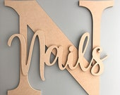 Extra large personalised letter and name, MDF blank names, Large name signs, Wall name signs, giant letters and names