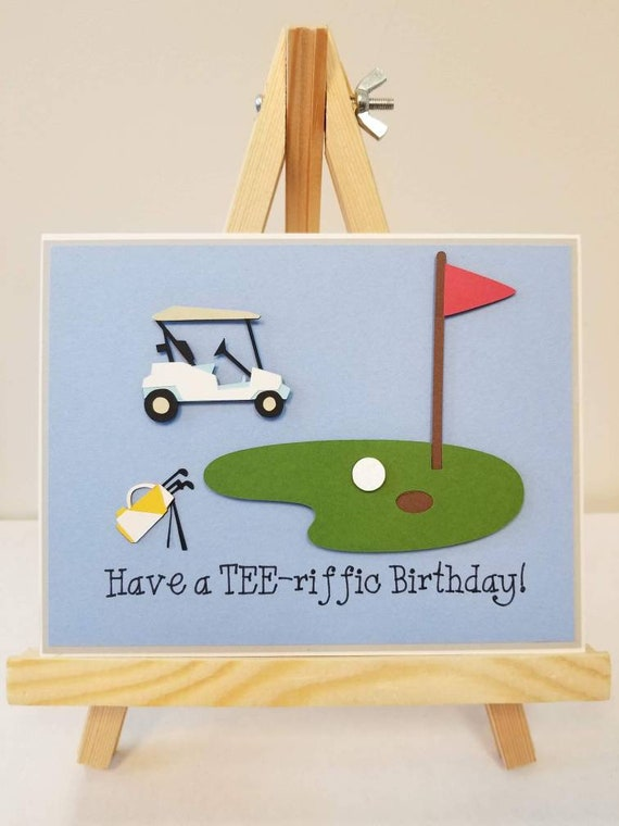 Have A TEE Riffic Birthday Handmade Card Golfing Theme