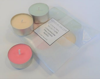 Box of 6 Parma Violets Scented Soy Tealight Candles