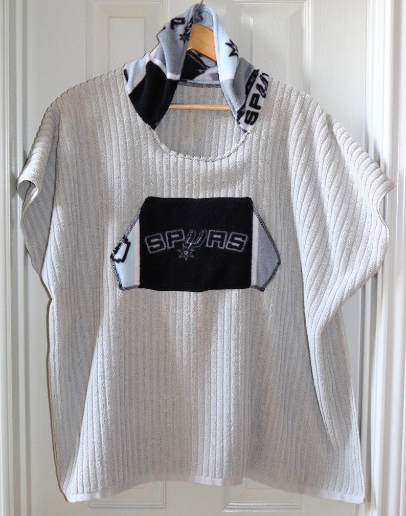 Spurs Girls Hooded Poncho Towel for Swim or Bath