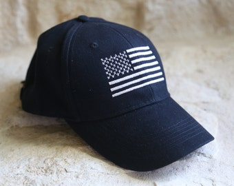 2918317b6cf0c BLACK Direct Embroidery Special Forces Operator Tactical American US Flag  Hat