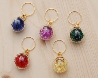 Knit stitch marker set, ring stitch markers, stitch markers for knitting, knitting notion, knitting accessories, uk seller, gift for knitter