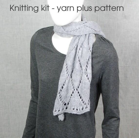 Schal stricken Kit handgefärbte Garne Bausatz stricken | Etsy