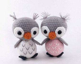 PATTERN: Ollie and Opal - Crochet owl pattern - amigurumi owl pattern - crocheted owl pattern - owl amigurumi - PDF crochet pattern
