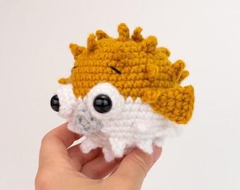 PATTERN: Pokey the Pufferfish - amigurumi pufferfish pattern - crocheted pufferfish stuffie pattern - PDF crochet pattern