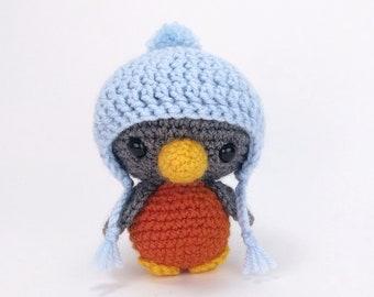1772456715e PATTERN  Blue the Bird - Crochet bird pattern - amigurumi bird - crocheted  bird pattern - crochet robin pattern - PDF crochet pattern