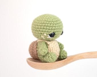 PATTERN: Timmy the Tiny Turtle - Crochet turtle pattern - amigurumi baby turtle - crocheted turtle pattern - PDF crochet pattern