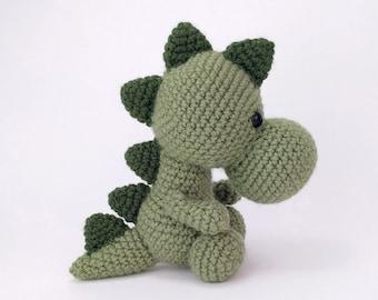 PATTERN: Spike the Stegosaurus - Crochet dinosaur pattern - amigurumi stegosaurus pattern - crocheted dino pattern - PDF crochet pattern