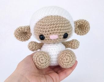 PATTERN: Lily the Lamb - Crochet lamb pattern - amigurumi sheep pattern - lamb pattern - crochet sheep pattern - PDF crochet pattern