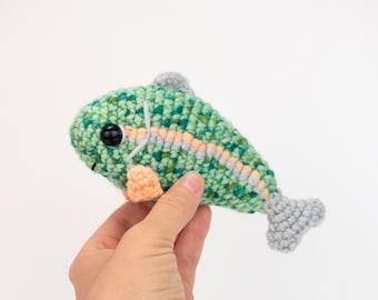 PATTERN: Ripple the Rainbow Trout pattern - amigurumi rainbow trout pattern - crochet trout pattern - PDF crochet pattern