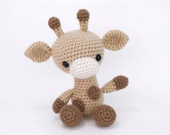 PATTERN: Gabe the Giraffe - Crochet giraffe pattern - amigurumi giraffe pattern - crocheted giraffe pattern - PDF crochet pattern