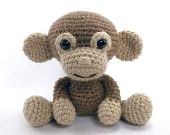 PATTERN: Martin the Monkey - Crochet monkey pattern - amigurumi monkey pattern - crocheted monkey pattern - PDF crochet pattern