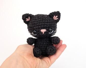 PATTERN: Cinder the Tiny Cat - Crochet cat pattern - amigurumi kitty pattern - kitten pattern - crochet cat pattern - PDF crochet pattern